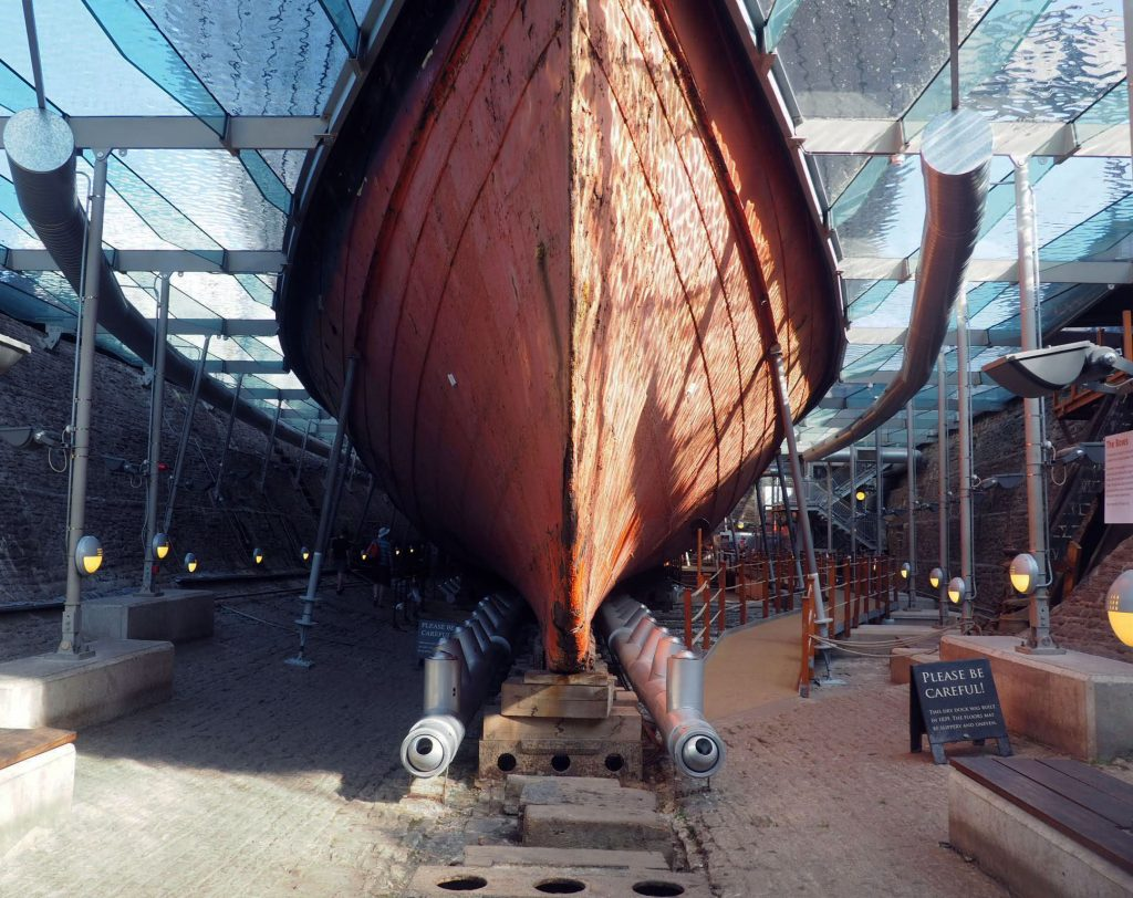 Bow of SS Great Britain