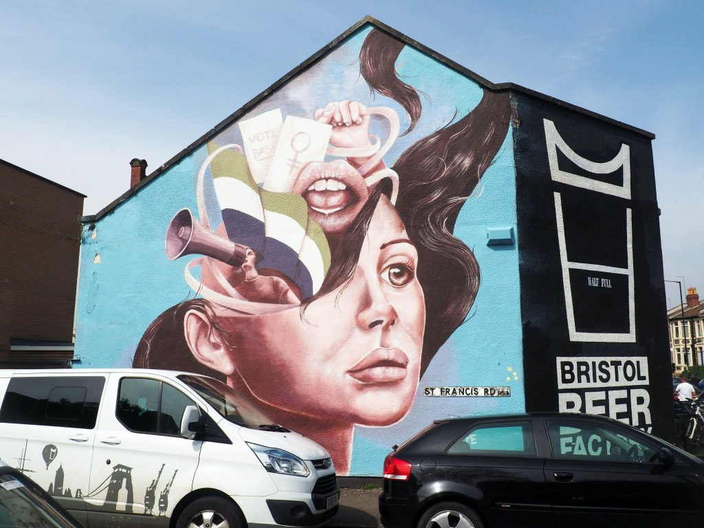 Street Art work by Caro Pepe at Upfest 2018