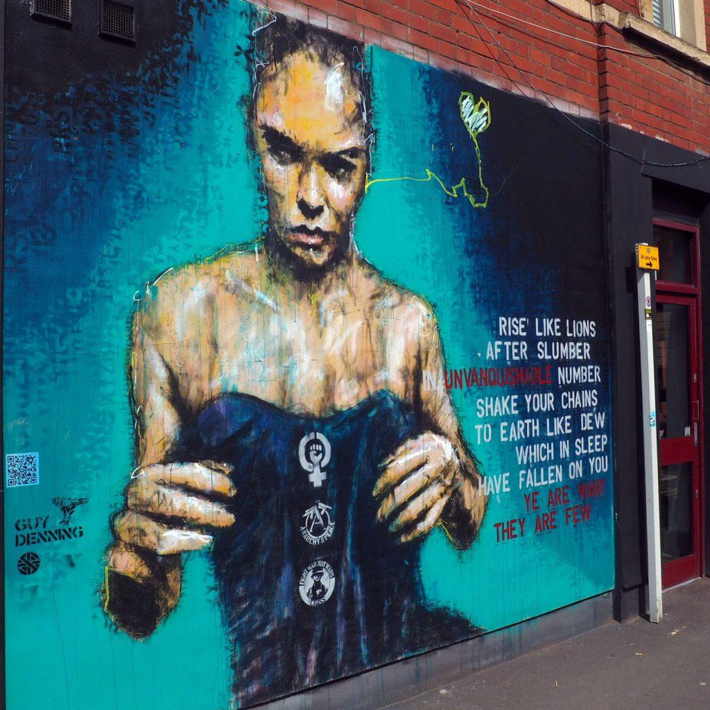 Street Art work by Guy Denning at Upfest 2018